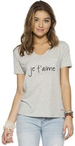 Peace Love World Je T'Aime James V-Neck Tee