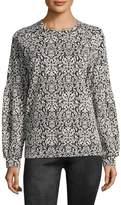 BCBGeneration Women's Damasque Print Sweater