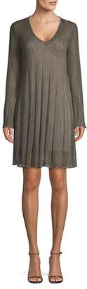 M Missoni Lurex V-Neck Shift Dress