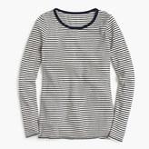 J.Crew Waffle navy striped long-sleeve crewneck T-shirt