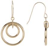 Candela 14K Gold Double Circle Dangle Earrings