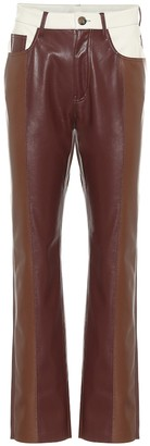 Nanushka Vinni high-rise faux leather pants