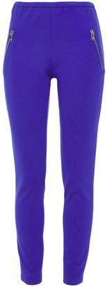 Emilio Pucci Zip-detailed Stretch-ponte Leggings