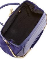 Zac Posen Daphne Leather Doctor Bag, Azure