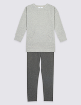 Marks and Spencer 2 Piece Cotton Rich Top & Bottom Outfit (3-14 Years)