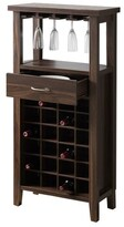 Rumley Wooden Mini Bar with Wine Storage Union Rustic