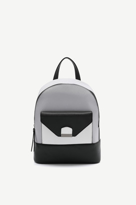 Ardene Faux Leather Color Block Backpack