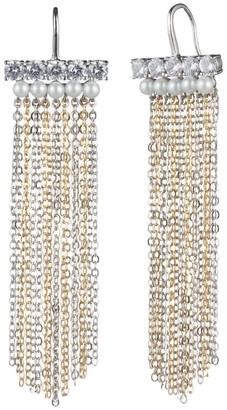 Carolee Grace Symmetrical Chain Fringe Earrings