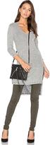 Splendid Long Sleeve Hi-Lo Tunic in Gray