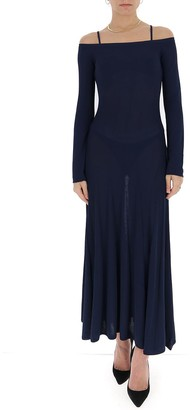 Jacquemus Cold-Shoulders Pleated Dress