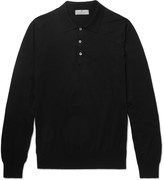 Canali - Slim-fit Knitted Cotton Polo Shirt