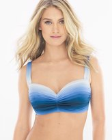 Soma Intimates Hola Ombré Shirred Bandeau D Cup Bikini Swim Top