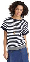 Brooks Brothers Striped Square Sleeve Sweater