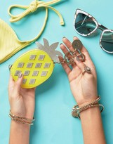 Oasis Pineapple Novelty Keychain Purse