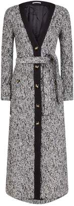 Alessandra Rich Long Tweed Belted Dress