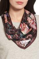 Echo Winter Floral Diamond Silk Scarf