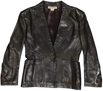 Saint Laurent Brown Leather Jackets