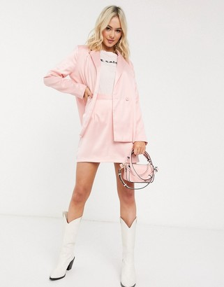 Heartbreak satin mini skirt in pink