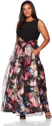 Eliza J Women's Plus-Size Plus Size Floral Printed Ballgown Dress