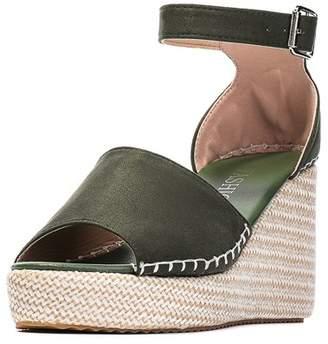 Meigar Women's Casual Shoes Espadrille Wed-ge Peep Toe Sandals Platform High Heels Ankle Strap