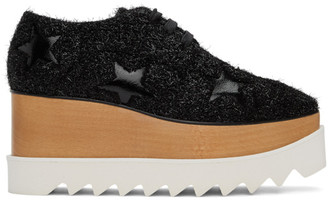 Stella McCartney Black Furry Elyse Derbys