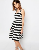 Warehouse Premium Stripe Prom Dress