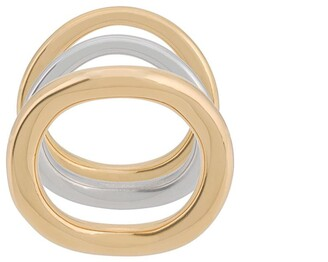 Charlotte Chesnais Wave set of three rings