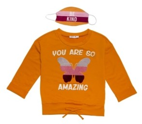 Beautees Big Girls 'You Are So Amazing' Sweater with Matching Mask