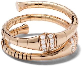 Mattia Cielo 18kt rose gold diamond Rugiada ring