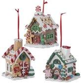 "Kurt Adler 3.5"" Claydough Gingerbread Led House Ornament"