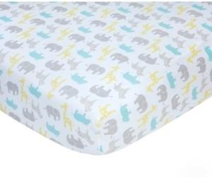 Carter's Cotton Sateen Crib Sheet - Safari Print Bedding