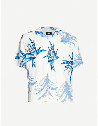 Stussy Cactus-print boxy-fit woven shirt