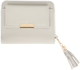 Yours Clothing Nude Textured PU Zip Around Purse With Tab Pocket & Tassel