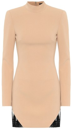 David Koma Macrame-trimmed cady minidress