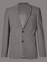 Marks And Spencer Textured 2 Button Jacket With Buttonsafetm