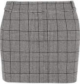 Tibi Aldridge Checked Wool-blend Tweed Mini Skirt