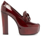 Givenchy Platform Patent-leather Loafers - Womens - Burgundy