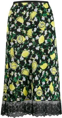 Dvf Diane Von Furstenberg Lemon Print Skirt
