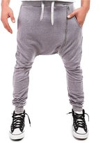 Retrograder Unisex Hip Hop Elastic Waist Zip Slim Dance Sport Cotton Sweatpants -M