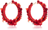 Ranjana Khan Red Hoop Earrings