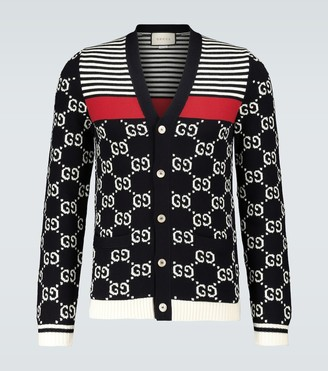 Gucci GG striped knitted cardigan