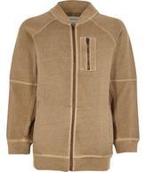 River Island Boys stone soft bomber jacket