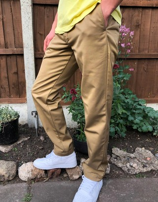Carhartt WIP Master relaxed tapered trousers in leather beige
