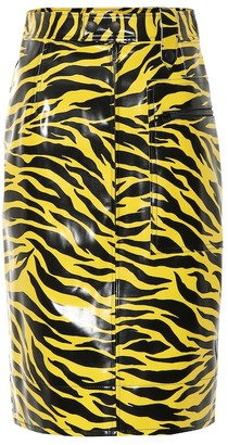Kwaidan Editions Tiger-print vinyl skirt
