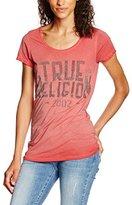 True Religion Women's Crew Neck Tr Red T-Shirt,12