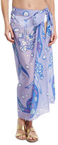 Anna Coroneo Cotton Voile Mermaid Scarf, Lilac