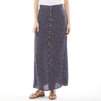 Onfire Womens Viscose Printed Skirt Navy Floral