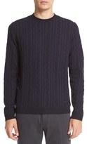 Armani Collezioni Men's Tonal Jacquard Cable Sweater