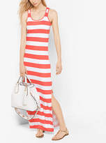 Michael Kors Striped Jersey Maxi Dress