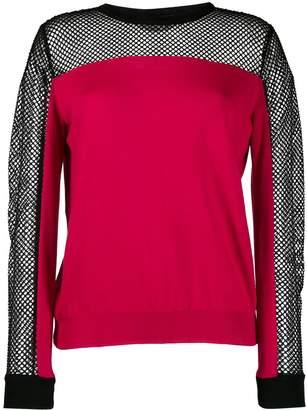 Moschino long sleeve mesh top